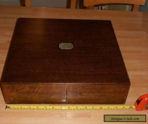 Large Antique Oak Collectors box with lock and key for Sale