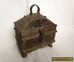 old casket metal JEWELRY BOX for Sale
