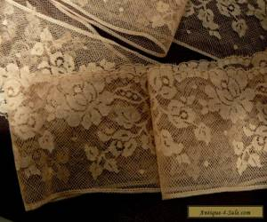 ANTIQUE COLLECTABLE DENTELLE VALENCIENNES 1930,S FRENCH LACE TRIM  3 YARDS for Sale
