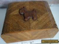 art deco wooden scottie dog box