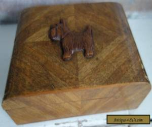 art deco wooden scottie dog box  for Sale