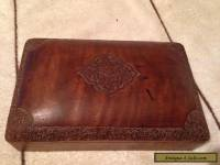 Vintage, Carved Walnut Trinket Box