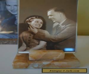 VINTAGE ART DECO 30s TOFFEE/CARAMEL  MARBLE BASE  PHOTO FRAME  for Sale