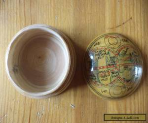 Vintage globe design  wooden box   for Sale