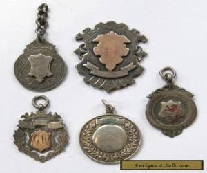 5x Antique/Vintage Sterling Silver 1875-1926 Medals/Fobs 44g for Sale