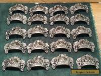 DRAWER PULLS EMBOSSED CAST IRON ORNATE VICTORIAN STYLE