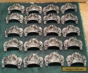 DRAWER PULLS EMBOSSED CAST IRON ORNATE VICTORIAN STYLE  for Sale