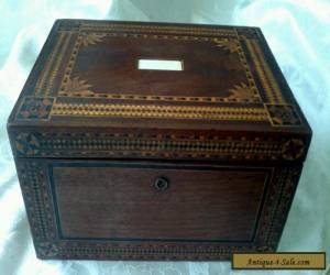 ANTIQUE LARGE WOODEN INLAID BOX for Sale