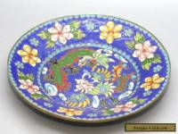 Most Exquisite Antique Chinese Hand Painted Cloisonne Dragon & Phoenix Plate
