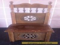 VINTAGE FRENCH, HAND CARVED WOODEN BRETON CHAIR / BOX.