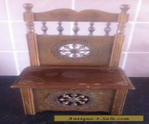 VINTAGE FRENCH, HAND CARVED WOODEN BRETON CHAIR / BOX. for Sale