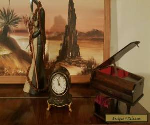Antique hand painted musical clock for Sale