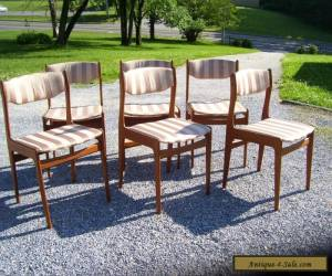 VINTAGE MID CENTURY DANISH MODERN TEAK DINING CHAIRS (6) TOTAL for Sale