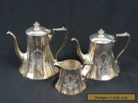 Antique American Silver plate Tea & Coffee Set HOMAN MFG Company Quadruple Plate