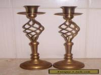 Pair of art deco Brass Candlesticks