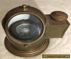 Original Binnacle Compass w/ Oil Lamp C. Plath Hamburg Germany for Sale