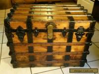 1800's Antique Victorian Steamer Trunk Chest with Lift out Tray
