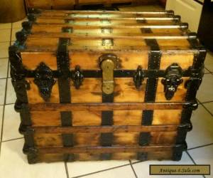 1800's Antique Victorian Steamer Trunk Chest with Lift out Tray  for Sale