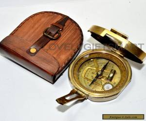 Old 1818 Vintage Style Antique Brass Brunton Geological Compass W/Box mm for Sale