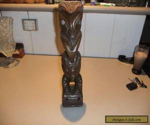 WOODEN  NEW  ZEALAND  STATUE for Sale