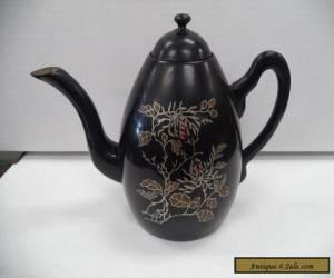 Antique Foochow China Black Lacquer Teapot for Sale