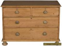 Victorian Antique English Pine Dresser Chest of Drawers Nightstand Side Table