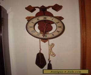 "Special wooden Swiss Wall Clock ""Buco 1320"" in original box for Sale"