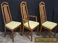 Set of 3 Maple Wood Mid-Century High-Back Dining Side Chairs