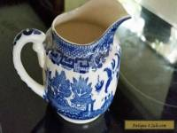 VINTAGE RETRO 30s JAPAN CLASSIC BLUE WILLOW MILK JUG
