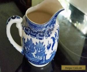 VINTAGE RETRO 30s JAPAN CLASSIC BLUE WILLOW MILK JUG  for Sale