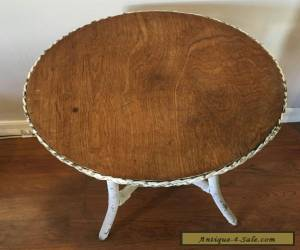 ... Item VINTAGE / ANTIQUE WICKER AND WOOD ROUND TABLE For Sale ...