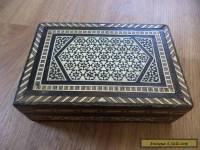 vintage inlaid  wooden box