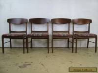 Retro Set Mid Century Modern Walnut Dining 4 Chairs Molded Plywood Backs