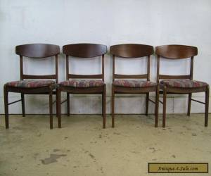 Retro Set Mid Century Modern Walnut Dining 4 Chairs Molded Plywood Backs for Sale