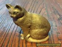 Antique Silver Cat Ornament