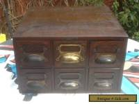 Vintage Card index filing Cabinet  6 draws