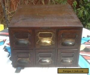 Vintage Card index filing Cabinet  6 draws for Sale