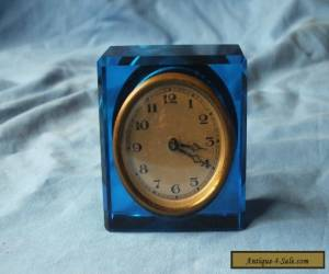 VINTAGE SMALL GLASS CLOCK for Sale