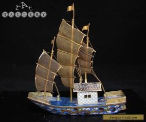 Antique / Vintage Chinese Cloisonne Enamel Ship / Junk for Sale