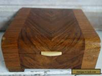 art deco wooden ivorine handle box