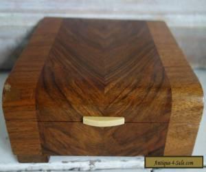 art deco wooden ivorine handle box  for Sale