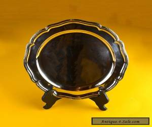 Circular Solid Silver Austria-Hungarian Salver / Serving Tray keep or Scrap 745g for Sale