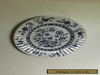 ANTIQUE BLUE NORDIC DESIGN ENGLISH WALL PLATE