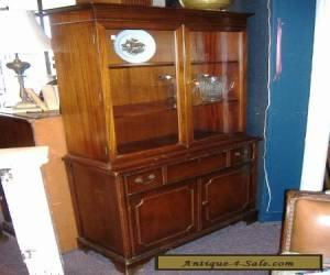 Mahogany China Cabinet Closet Glass Door Vintage Antique for Sale