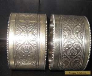 Antique Silver Napkin Serviette Rings for Sale