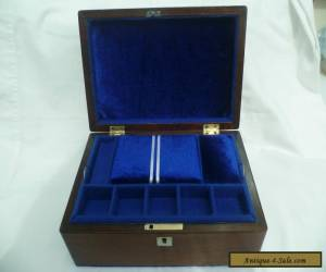 ANTIQUE ROSEWOOD JEWELLERY/SEWING BOX WITH MOTHER OF PEARL DECORATION for Sale