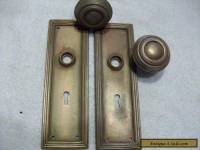 vintage metal door knobs & back plates