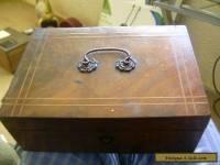 victorian ladies cross band trinket box with handle
