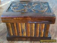 Vintage wooden secret lock box