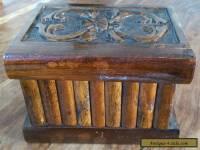 Vintage wooden secret lock box